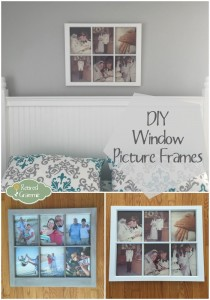 DIY Old Window Picture Frames