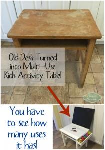 Old Desk Turned Kids Activity Table