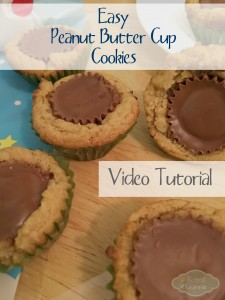Easy Peanut Butter Cup Cookies Video Tutorial