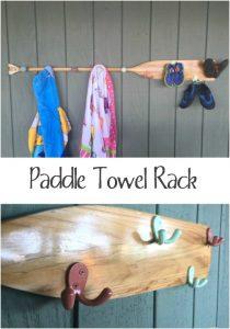 Oar Towel Rack